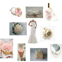 """Wedding rose"" by chezmelissa-uncinettoamoremio on Polyvore"