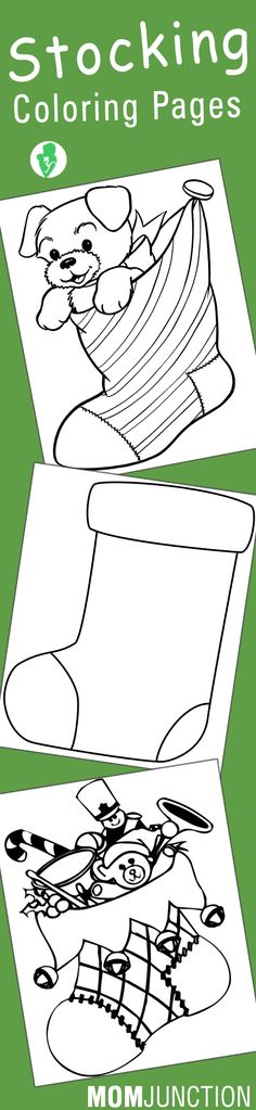 Christmas Stocking Coloring Pages Kids Coloring Pages - plain stocking coloring pages