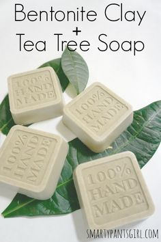 Easy Homemade Bentonite Clay and Tea Tree Soap! Melt and Pour!