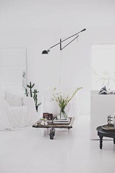 from light to dark in a swedish sitting room