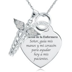 This A Nurse's Prayer Necklace/Pendant 925 Sterling Silver Heart Shaped (can be personalized) is just one of the custom, handmade pieces you'll find in our pendants shops. Nurses Prayer, Nurse Jewelry, Personalized Necklace, Sterling Silver Necklaces, Silver Bracelets, Prayers, Nursing Schools, Pendant Necklace, Heart