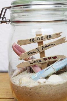 DIY Geschenk zur Hochzeit l Geschenkidee im Glas l Hochzeitsgeschenk basteln l Geldgeschenk Reisen