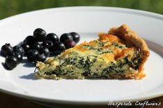 Quiche aux épinards - spinach quiche