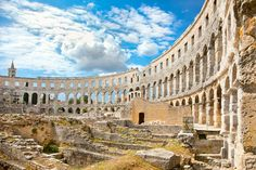 In the midst of the ancient town of Pula lies the best preserved ancient monument in Croatia; the Roman amphitheater Pula Arena...