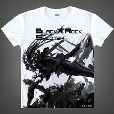 Black Rock Shooter T-shirts kawaii Japanese Anime tshirt Manga Shirt Cute Cartoon Mato Kuroi Cosplay Tshirt 37166799598 tee 343 - Top Kawaii - Best Online Kawaii Shop Top Kawaii - Best Online Kawaii Shop