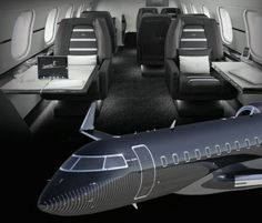 Brabus enters to private jet tuning as part of expanding its business Airplane Interior, Private Jet Interior, Private Plane, Private Jets, First Class Flights, Luxury Jets, Aircraft Interiors, Aircraft Design, Porsche Cars