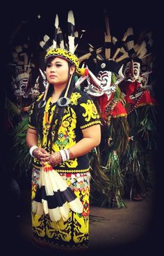 The Beauty.... Dayak Tribe, Borneo, Indonesia