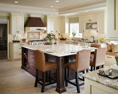 Delicieux CENTER ISLAND KITCHEN W TABLE   Google Search