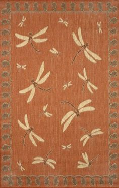 Indoor-Outdodor rugs from Liora Manne: Terrace Dragonfly Terracotta. Order from Rich's for the Home. Synthetic Rugs, Rugs Usa, Contemporary Rugs, Indoor Outdoor Rugs, Accent Rugs, Throw Rugs, Home Accessories, Area Rugs, Porch