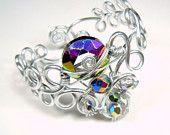 Spirals Bracelet in Hunter Green. $15.00, via Etsy.