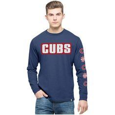 Chicago Cubs '47 Crosstown Team Long Sleeve T-Shirt - Royal - $41.99