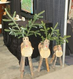Handmade in Colorado using recycled trees gathered under contract with the Colorado State Forest Service these log Reindeer are adorably cute. They make for conversation starting Christmas home decor Wooden Christmas Decorations, Christmas Wood Crafts, Unique Christmas Gifts, Rustic Christmas, Christmas Projects, Christmas Crafts, Christmas Ornaments, Frugal Christmas, Handmade Christmas