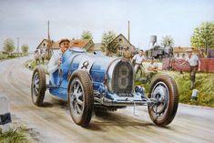 Vintage Racing Cars On Canvas Automotive Art of Vaclav Zapadlik