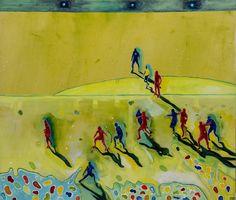 Mirza Cizmic, Eternal struggle, 145 x 173, Oil/gesso/pencil on canvas