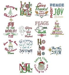 Holiday Expressions Christmas Machine Embroidery Designs | Designs by JuJu