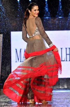 Manish Malhotra. Loving the color combo!