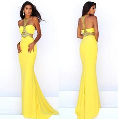 Yellow prom dress by Sherri Hill