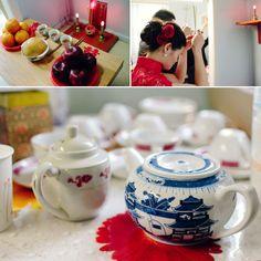 Steps of the Chinese wedding tea ceremony | 中国的婚礼茶道的步骤 | Étapes de la cérémonie chinoise du thé dans les mariages