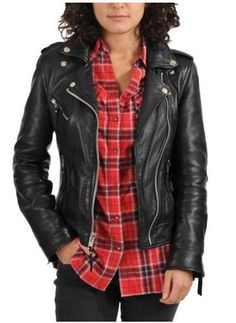 Standard Leather Women Motorcycle Lambskin Leather Jacket *** Click image for more details.
