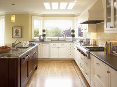 Dynasty by Omega: Inset-beaded Ultima Cherry Chestnut and Maple Oyster - traditional - kitchen - MasterBrand Cabinets, Inc.