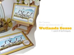 Wetlands Stamp Set gave me the opportunity to create a nice composition to share inspirational messages about friendship, leadership and team work.  I love it!!   Please visit my blog to see what is inside the card and for more info about this project. www.bibicameron.blogspot.co.uk