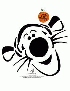 Disney's Tigger Pumpkin Pattern