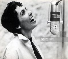 Photo of Lena HORNE; Lena Horne singing into a microphone in a recording studio circa 1975 Get premium, high resolution news photos at Getty Images Sister Songs, Lena Horne, Dorothy Dandridge, Black Actresses, Josephine Baker, Gone Girl, Black Image, Diana Ross, Classy And Fabulous