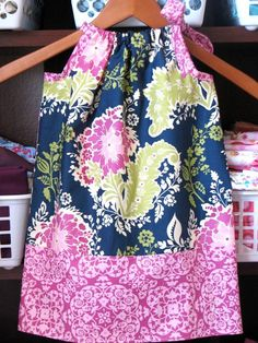 I bet Angela Kroeger could teach me to make this :) Kid Clothing, Sewing Clothes, Diy Clothes, Baby Girl Fashion, Kids Fashion, Little Dresses, Girls Dresses, Pillowcase Dresses, Granddaughters