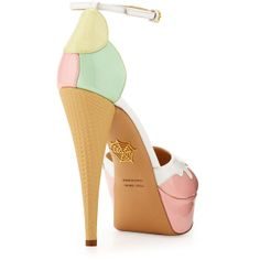Charlotte Olympia Ice Cream Cone-Heel d'Orsay Pump, Pastel ($995) found on Polyvore