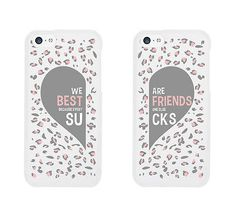 We Are Best Friends Because Everyone Else Sucks BFF Phone Cases Matching iphone 4 5 5C 6 6+ / Galaxy S3 S4 S5 / LG G3 / HTC One M8 Cases - 100% brand new - Order includes 2 x cases - for two friends -