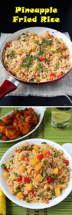Forget takeout foods. Make this super colorful and flavorful Pineapple fried rice easily at home.