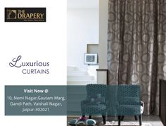 Brighten up your Home with the selected collection of Luxurious Curtains. Visit us or Call now 5108886 Buy Curtains Online, Drapery, Windows, Doors, Luxury, Collection, Home Decor, Decoration Home, Room Decor