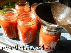 My Go-To Salsa Recipe (For Canning)! http://www.littlehouseliving.com/my-go-to-salsa-recipe-for-canning.html #canning #preserving #salsa