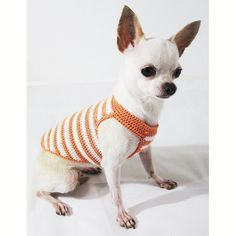 Rustic Dog Tank Cotton Puppy Clothes Pet Clothing Handmade Crochet Chihuahua Apparel DK972 Myknitt - Free Shipping