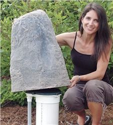 Well-B -Gone Well Pump Cover Kit s all included: the DekoRRa Faux Rock Cover, the DekoRRa Faux Border Stone Edging and the Pre-Cut Weed Barrier Template! Landscaping Supplies, Backyard Landscaping, Landscaping Ideas, Backyard Ideas, Landscaping Software, Landscaping Contractors, Driveway Landscaping, Country Landscaping, Backyard Playground