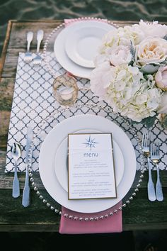 nautical place setting   Simply Sonja Photography   Glamour & Grace