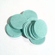 """1.5"""" aqua blue felt circles / 25-50 pieces"""
