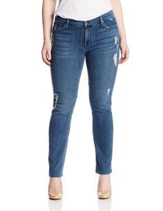 Fashion Bug Womens Plus Size J Twiggy Z 5-Pocket Cigarette Leg Jean. www.fashionbug.us #curvy #plussize #FashionBug