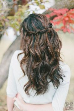 15. #Waterfall Braid and #Waves - Summer #Hair: Loose Waves and Curls… #Loose