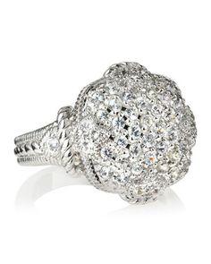 Judith Ripka Pave Cushion Ring