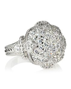 Judith Ripka Pave Cushion Ring