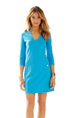 Charlena Deep V-Neck Knit Shift Dress | 91706 | Lilly Pulitzer