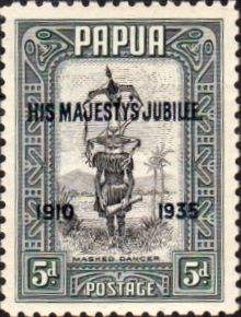 Papua New 1935 SG 153 Silver Jubilee of King George V Fine Mint Scott 117 Other Papua New Guinea Stamps HERE