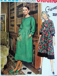 Vintage GIVENCHY Bohemian Style Dress Pattern Vogue Paris Original 2372  Romantic Midi Dress Size 8 Vintage Sewing Pattern UNCUT
