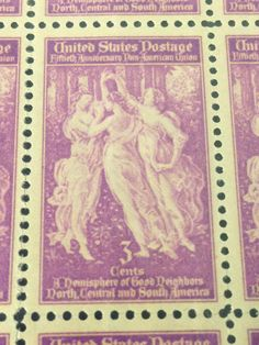 3 Women Art on 3 Cent Stamps 50x MNH/New 50th #Anniversary of   #PanAmerican #Union