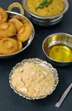 Dal - Baati - Churma -  #rajasthanicuisine   Low fat version  Panchmel Dal, Baked Masala Baati, Baked Churma  http://easybitesonline.com/dal-baati-churma-rajasthani-cuisine/