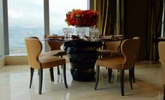 See more information @ http://www.bykoket.com/guilty-pleasures/casegoods/intuition-dining-table.php