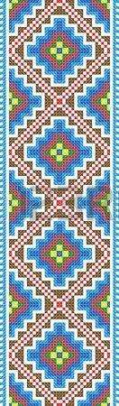 Nahtlose Stripe dem Vektor Verlauf des traditionellen Folk Cross Stitch