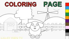 Dog Coloring Pages for Kids Learn Colors - A Dog Says