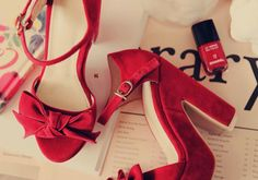 hmmm red shoes